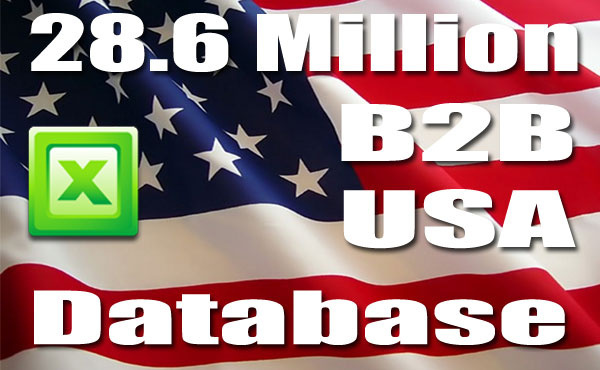 Customized B2B 2013 Business Database of 10,000 American Companies With Email