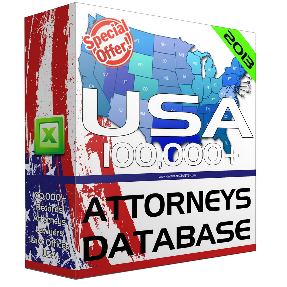 Attorneys & Lawyers Database Directory & Email Lists USA